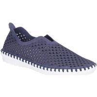 Schuhe Damen Leinen-Pantoletten mit gefloch Divaz  Marineblau