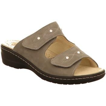 Schuhe Damen Pantoffel Hickersberger Pantoletten 2175-6200 grau