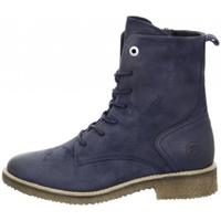Schuhe Damen Low Boots Salamander Schnürstiefel 32-49402 blau