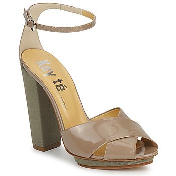 Schuhe Damen Sandalen / Sandaletten Keyté KRISTAL-26722-TAUPE-FLY-3 Maulwurf