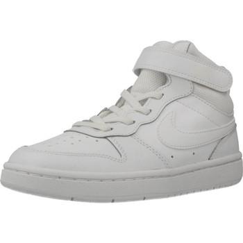 Schuhe Jungen Sneaker High Nike COURT BOROUGH MID 2 (PS) Weiß