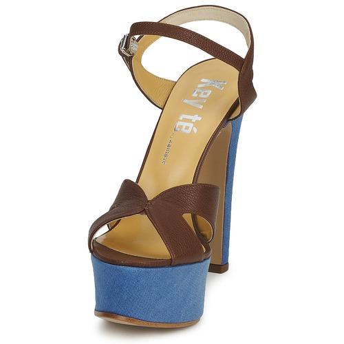 Keyté CUBA-LUX-MARRONE-FLY-9 Maroni  Schuhe Sandalen / Sandaletten Damen 107,50