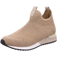 Schuhe Damen Slip on La Strada Slipper Sneaker aus Textil in Gold 1815836-4543 beige