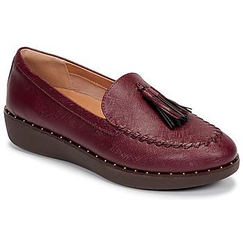 Schuhe Damen Slipper FitFlop PETRINA PATENT LOAFERS Rot