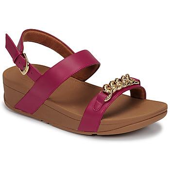 Schuhe Damen Sandalen / Sandaletten FitFlop LOTTIE CHAIN BACK-STRAP SANDALS Fuchsienrot