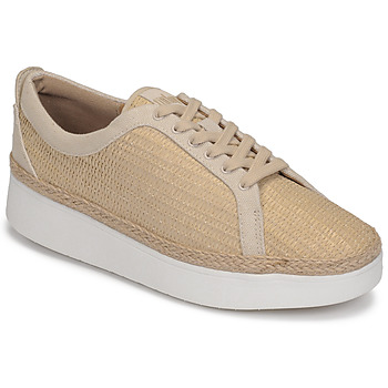 Schuhe Damen Sneaker Low FitFlop RALLY BASKET WEAVE SNEAKERS Beige