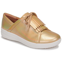 Schuhe Damen Sneaker Low FitFlop F-SPORTY II LACE UP FRINGE SNEAKERS-IRIDESCENT LTR Gold