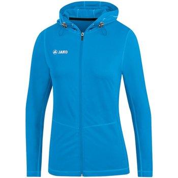 Kleidung Damen Jacken Jako Sport Kapuzenjacke Run 2.0 6875D 89 blau