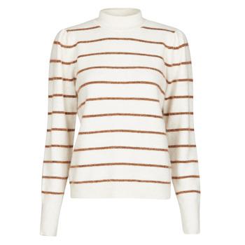 Kleidung Damen Pullover Vero Moda VMCORNELIAPUFF Weiss / Braun
