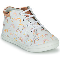 Schuhe Mädchen Sneaker High GBB NAHIA Weiss / Rose