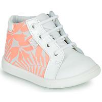Schuhe Mädchen Sneaker High GBB FAMIA Weiss / Rose