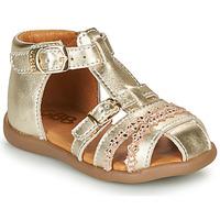 Schuhe Mädchen Sandalen / Sandaletten GBB ALIDA Gold