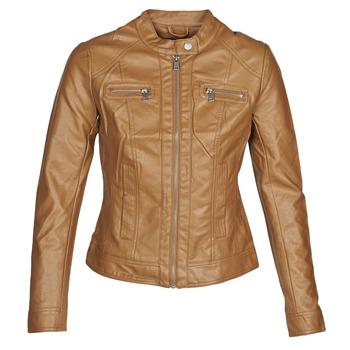 Kleidung Damen Lederjacken / Kunstlederjacken Only ONLBANDIT Cognac