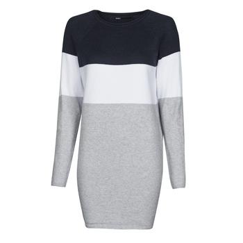 Kleidung Damen Kurze Kleider Only ONLLILLO Marine / Weiss / Grau