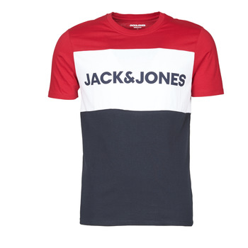 Kleidung Herren T-Shirts Jack & Jones JJELOGO BLOCKING Rot