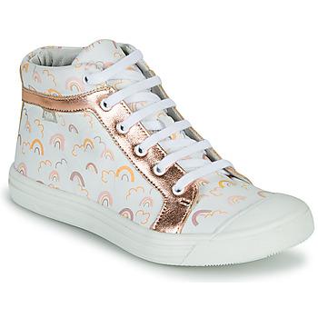 Schuhe Mädchen Sneaker High GBB LEOZIA VTE IMP ARC EN CIEL-ROSE DPF/MILENA
