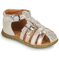 Schuhe Mädchen Sandalen / Sandaletten GBB PERLE Weiss / Rose