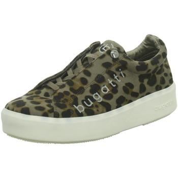 Schuhe Damen Sneaker Low Bugatti Schnuerschuhe Kelli,taupe / black 435407676900-1410 animal