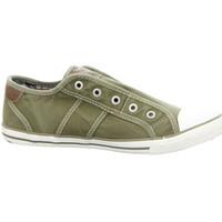Schuhe Damen Tennisschuhe Mustang Slipper 1099401-777 grün