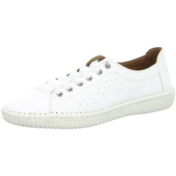 Schuhe Damen Sneaker Low Cosmos Comfort Schnuerschuhe 6150401-1 weiß