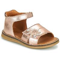 Schuhe Mädchen Sandalen / Sandaletten GBB SATIA Goldfarben / Rose / Dpf