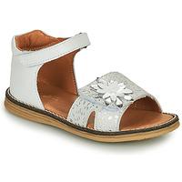Schuhe Mädchen Sandalen / Sandaletten GBB SATIA Weiss / Silbern