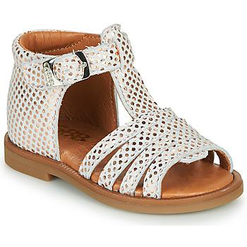 Schuhe Mädchen Sandalen / Sandaletten GBB ATECA Weiss / Rose / Gold