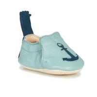 Schuhe Kinder Hausschuhe Easy Peasy BLUMOO ANCRE Blau