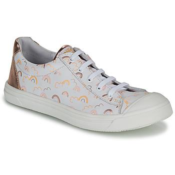 Schuhe Mädchen Sneaker Low GBB MATIA Weiss / Rose