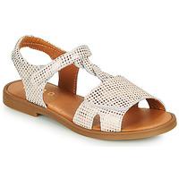 Schuhe Mädchen Sandalen / Sandaletten GBB FARENA Weiss / Rose / Gold