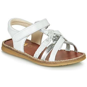 Schuhe Mädchen Sandalen / Sandaletten GBB SUMY Weiss / Silbern