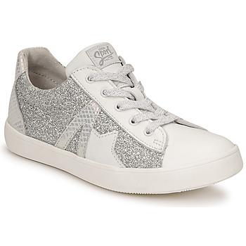 Schuhe Mädchen Sneaker Low GBB DANNI Weiss / Silbern