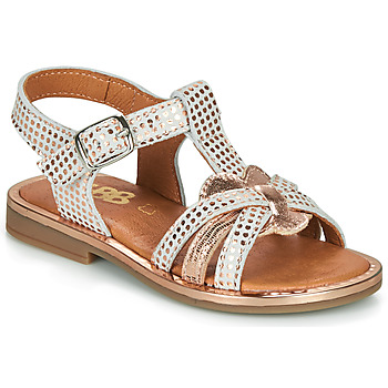 Schuhe Mädchen Sandalen / Sandaletten GBB EGEA Weiss / Rose / Gold