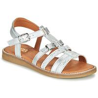 Schuhe Mädchen Sandalen / Sandaletten GBB OLALA Silbern
