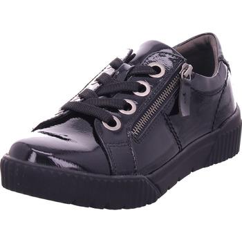 Schuhe Damen Derby-Schuhe & Richelieu Jana Damen Schnürer BLACK PATENT