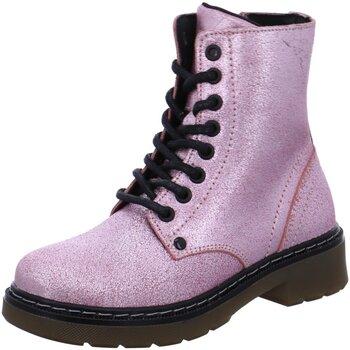 Schuhe Mädchen Boots Bullboxer Schnuerstiefel AOL501E6L-PIGL rosa