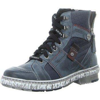 Schuhe Damen Boots Krisbut Stiefeletten 3177-2-4 blau