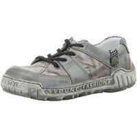 Schuhe Damen Sneaker Low Krisbut Schnuerschuhe 2379-5-1 grau