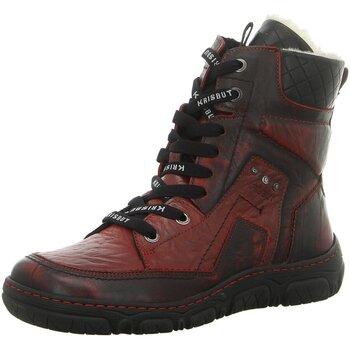 Schuhe Damen Boots Krisbut Stiefeletten 3182-3-3 rot