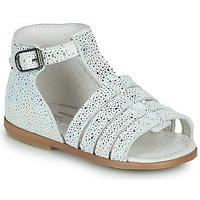 Schuhe Mädchen Sandalen / Sandaletten Little Mary HOSMOSE Grau