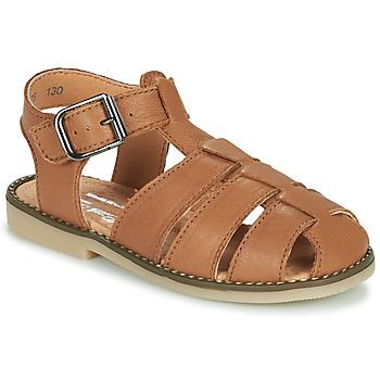Schuhe Jungen Sandalen / Sandaletten Little Mary BREHAT Braun