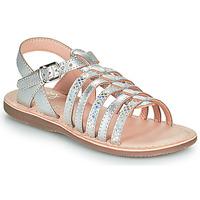 Schuhe Mädchen Sandalen / Sandaletten Little Mary BARBADE Silbern