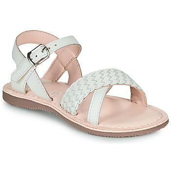 Schuhe Mädchen Sandalen / Sandaletten Little Mary LIANE Weiss