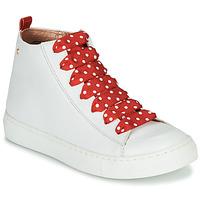 Schuhe Mädchen Sneaker High Little Mary SASHA (VE014) Weiss / Rot