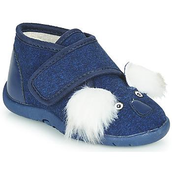 Schuhe Kinder Hausschuhe Little Mary KOALAVELCRO Blau