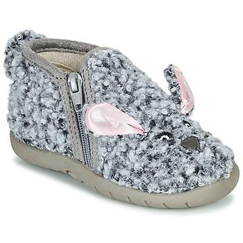 Schuhe Kinder Hausschuhe Little Mary LAPINZIP Grau