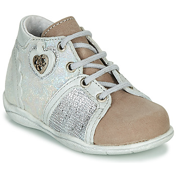 Schuhe Mädchen Boots Little Mary VANILLE Silbern / Maulwurf