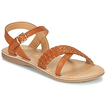 Schuhe Mädchen Sandalen / Sandaletten Little Mary LIANE Cognac