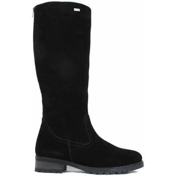 Schuhe Damen Klassische Stiefel Remonte Dorndorf Samtcalf schwarze Stiefel Schwarz