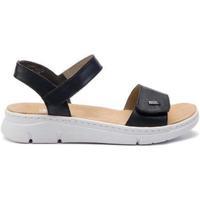 Schuhe Damen Sandalen / Sandaletten Rieker Pazifik Pazifik Blaue Sandalen Blau
